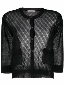Dorothee Schumacher transparent lightweight knit cardigan 716302