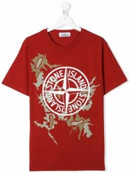 Stone Island Junior футболка с логотипом MO721621056