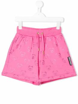Moschino Kids TEEN teddy bear print shorts HDQ002LDB42