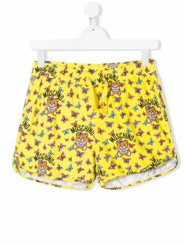 Moschino Kids elasticated teddy print shorts HDQ006LBB27