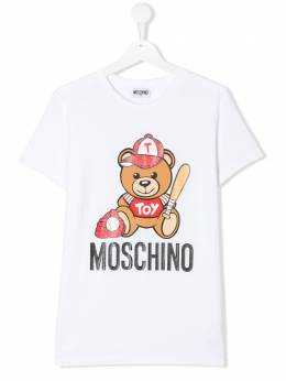 Moschino Kids TEEN Toy Teddy logo print T-shirt H5M01ILBA10