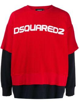 Dsquared2 многослойная толстовка из джерси S78GU0038S25427