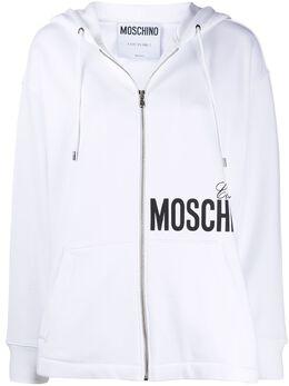Moschino logo print hoodie A17220527
