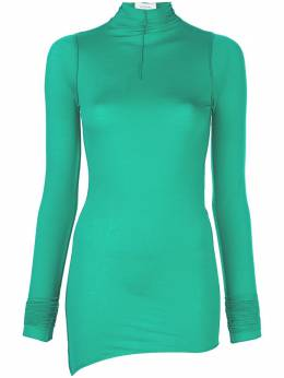 Lemaire turtle-neck asymmetric fitted top W201JE286LJ053