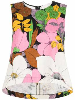 La Doublej sleeveless floral blouse TOP0016COT005BFL0001