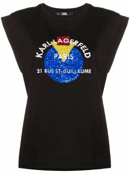Karl Lagerfeld топ Bauhaus Address с логотипом 201W1732999