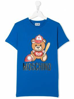 Moschino Kids TEEN Toy Teddy logo-printed T-shirt H5M01ILBA10