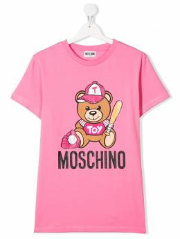 Moschino Kids TEEN Toy Teddy print T-shirt H5M01ILBA10