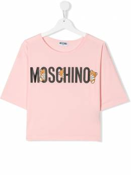 Moschino Kids TEEN Teddy Bear logo T-shirt HDM03LBA10