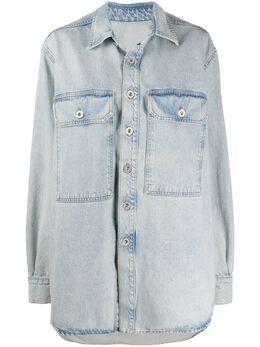 Unravel Project джинсовая куртка оверсайз с длинными рукавами UWYD003R20DEN0014500