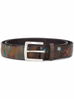 Orciani painted floral pattern belt 7907PATCHP