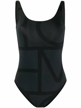 Toteme monogram print open back swimsuit 193842780