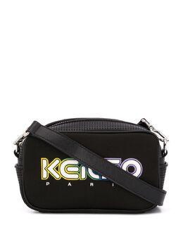 Kenzo сумка через плечо с логотипом и сетчатой вставкой FA52SA406F01