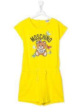 Moschino Kids комбинезон с кулиской и логотипом HDT009LBA00