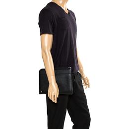 Dolce&Gabbana Black Leather Zip-Around Ipad Case 273539