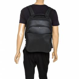 Montblanc Black Textured Leather and Mesh Extreme Rucksack Backpack 273709