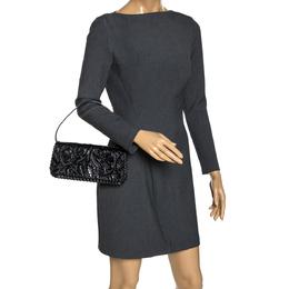 Kenzo Black Patent Leather Pochette Bag