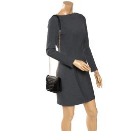 Alexander McQueen Black Leather Mini Studded Heroine Crossbody Bag 273725