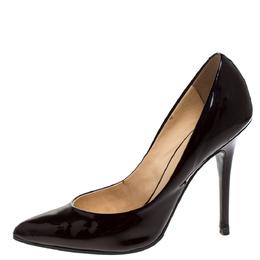 Giuseppe Zanotti Design Burgundy Patent Leather Pointed Toe Pumps Size 37.5 274401