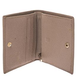 Carolina Herrera Beige Leather Compact Wallet Ch Carolina Herrera 273796
