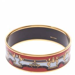 Hermes Emmaille Multicolor Gold Plated Bracelet GM 273427