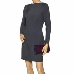 Saint Laurent Purple Patent Leather Belle De Jour Flap Clutch