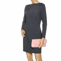 Tory Burch Pink Leather Diana Flap Clutch 273771