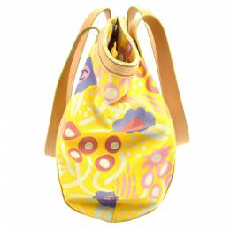 Chanel Yellow Cotton Canvas Multicolored Floral Tote Bag 273178