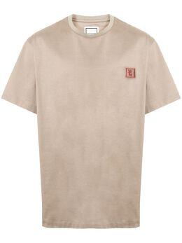 Wooyoungmi футболка с нашивкой-логотипом W201TS07BEIGE