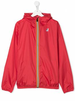 K Way Kids zip up logo rain jacket K004BD0