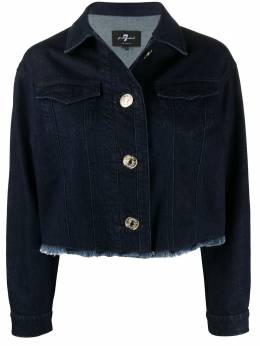 7 For All Mankind frayed-hem cropped denim jacket JSK4A780MI