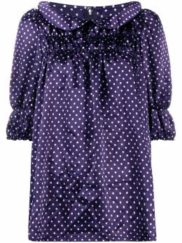Comme Des Garcons Girl dotted short sleeved blouse NEB013051