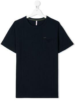 Sun 68 футболка с вышитым логотипом T30301T