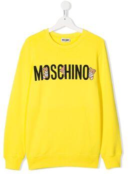 Moschino Kids толстовка свободного кроя с логотипом HMF039LDA00