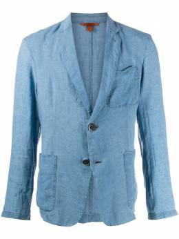 Barena однобортный пиджак с жатым эффектом GIU26063117