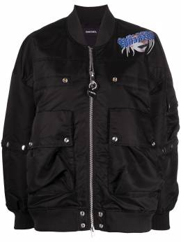 Diesel куртка-бомбер с графичным принтом 00SEXQ0EAZA