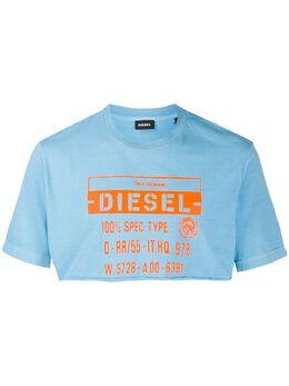Diesel укороченная футболка с логотипом 00SGTV0CAYW