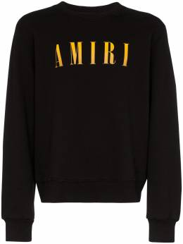 Amiri свитер с круглым вырезом и логотипом S0M02348TE