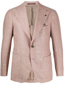 Tagliatore однобортный пиджак с узором шеврон 50SEG019GPL26K