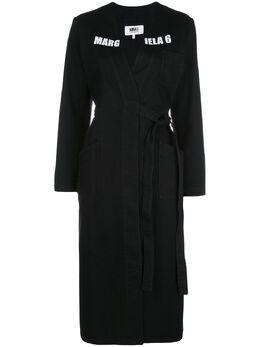 Mm6 Maison Margiela пальто с запахом и логотипом S32AA0185S47298