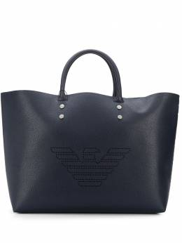 Emporio Armani сумка-тоут с перфорированным логотипом Y3D150YSL8E