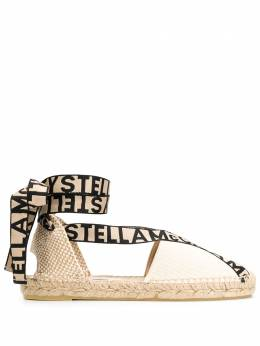 Stella McCartney эспадрильи на шнуровке с логотипом 800160N0093