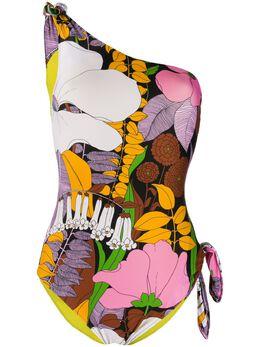 La Doublej купальник на одно плечо с цветочным принтом SWI0009LYC001BFL0001