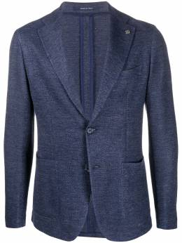 Tagliatore textured single-breasted blazer GDAKAR22KJ57UEJ156