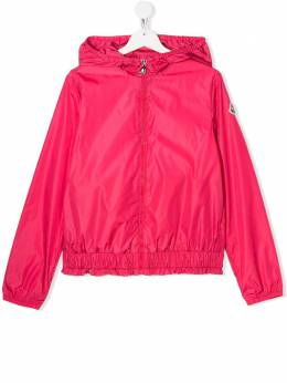 Moncler Kids TEEN ruffle-hem hooded jacket F19541A7201054155