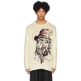 Yohji Yamamoto Off-White Yohji Sweater HN-K09-872