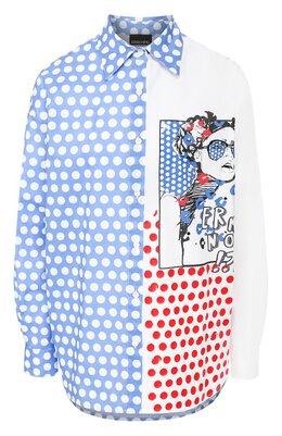 Хлопковая рубашка Ermanno Ermanno Scervino 46T CM24 P0I