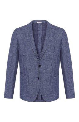 Пиджак из смеси шерсти и льна Luciano Barbera 111210/15620