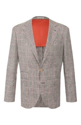 Пиджак из смеси льна и шерсти Brunello Cucinelli MW4247BND
