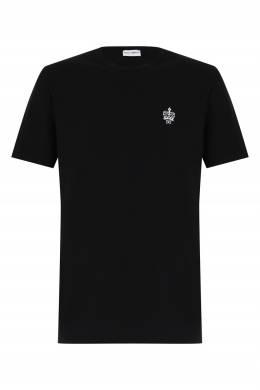 Черная футболка из трикотажа Dolce&Gabbana 599189778